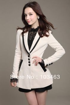 New style blazer women 2014 small ladies formal suit jacket coat long-sleeve slim blazer women plus size feminino wholesale Blazers For Women, Suits For Women, Jackets For Women, Look Fashion, Retro Fashion, Korean Fashion, Fashion 2014, Mode Mantel, Retro Mode