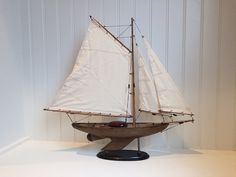 26 Wooden Model Sailboat  Lakeview Sloop style by ParadiseDecor