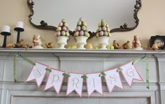 At Second Street: SPRING banner- free printable