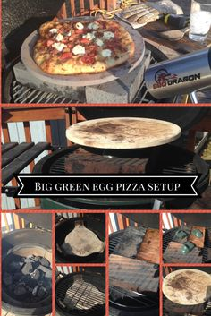 Big Green Egg Pizza- Pizza Grilled on the Big Green Egg - Big Green Egg Pizza- Pizza Grilled on the Big Green Egg - Big Green Egg Grill, Big Green Egg Pizza, Big Green Egg Outdoor Kitchen, Green Egg Bbq, Green Eggs And Ham, Easy Bbq Recipes, Healthy Egg Recipes, Green Egg Recipes, Tailgating Recipes