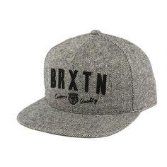 Casquette Grise Brixton Snapback Roman #mode #vintage #bonplan #brixtonmfg sur votre boutique headwear Hatshowroom.com #startup