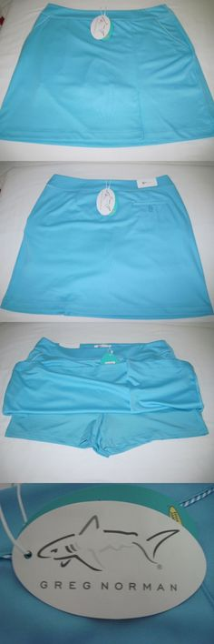Skirts Skorts and Dresses 179003: Greg Norman Golf Women S Single Pleat Piped Knit Skort, Size M, Blue, New W Tags -> BUY IT NOW ONLY: $39.96 on eBay!
