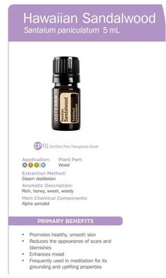 Hawaiian Sandalwood Essential Oil Uses www.mydoterra.com/livingthelifehousewife