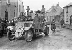 Free State troops in an armoured car in Sligo. The 'mine' was the only effective republican response. Army Vehicles, Armored Vehicles, Armored Car, Irish Independence, Free State, Irish Traditions, Army Soldier, Military Equipment, Military History