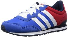 adidas Unisex Baby V Jog K Turnschuhe, Azul / Blanco / Negro (Azul / Ftwbla / Maruni), 35 1/2 EU - http://on-line-kaufen.de/adidas/35-5-adidas-maedchen-v-jog-k-laufschuhe-mehrfarbig