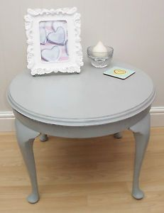 Vintage Shabby Chic Oval Queen Anne coffee table 13000For the