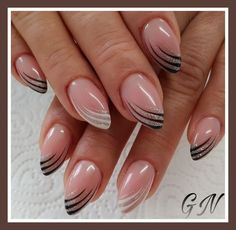 faded french nails watches - Home interior design - French Nails, French Manicure Nails, Diy Nails, Cute Nails, Pretty Nails, French Nail Designs, Acrylic Nail Designs, Nail Art Designs, Nagellack Design