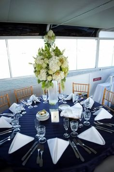 Wedding Centerpiece, Nautical Theme ~ Hornblower Cruises & Events, Newport Beach, CA