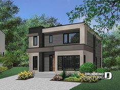 Small modern home designs modern small contemporary house plans in homes designs at home interior design . small modern home designs Contemporary Style Homes, Contemporary House Plans, Modern House Plans, Modern Houses, Design Exterior, Modern Exterior, Modern Home Exteriors, Modern Garage, House Exteriors
