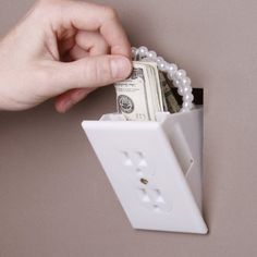 hide your jewelery and cash in the wall !!