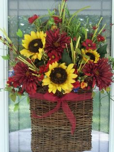 My new fall door basket.
