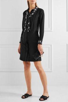 Paul & Joe - Syvette Bead-embellished Silk-satin Mini Dress - Black - FR36