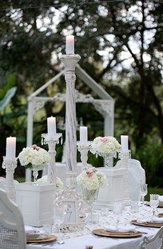 White Shabby Chic Wedding Inspiration