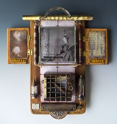 She Is Notably Nuclear, mixed media assemblage by Morgan Brig