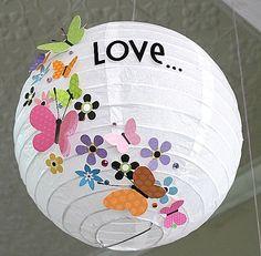 cool way to jazz up a paper lampshade Crafts For Kids, Arts And Crafts, Paper Crafts, Diy Crafts, Craft Projects, Projects To Try, Paper Lampshade, Origami Wedding, Chinese Lanterns