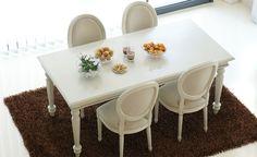Mesa Arrate Blanco Italiano & sillas Adur