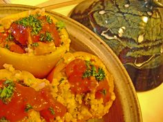 Tagine recipe for stuffed peppers — Clay Coyote Blog