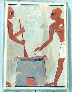 Cooking Cakes with Fat, Tomb of Rekhmire Dynasty 18, ca. 1504-1425 B.C. Egypt…