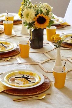Blog — Legally Crafty Blog Baby Shower Games, Baby Shower Parties, Shower Party, Cute Tea Cups, Small Yellow Flowers, Sunflower Baby Showers, Baby Shower Yellow, Bachelorette Party Themes, Dinner Themes