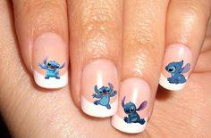 Disney Stitch Nail Art Water Transfer Decal  by FisherSquid, $3.00 #LiloAndStitch #Ohana #Disney