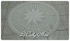 TAPETE EM CROCHÊ  www.lecathyartes.blogspot.com