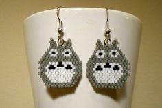 Totoro Anime Cosplay Peyote Earrings on Etsy, $15.00