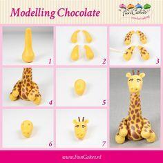 FunCakes_modelleer_figuur_giraffe