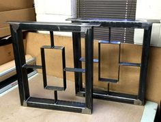 Modern Industrial Table Legs. This is a set of heavy duty 2 Steel legs. Sturdy Loads up to 1500lbs. Beautiful creation, Great Design, High Quality. Material: Steel Tubing 2 x 3 inches. Flat Steel 1/4 x 2 inches. In stock 28H x 28W! Clear coat finish, Flat Black Color, Custom Color Ready to ship in 3-4 days, For other size and finish 2-3 weeks. This dining table legs can be finished with Live edge, wood, glass, marble or granite top. Picture is shown with reclaimed wood top! Made in U.S.A. By…