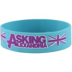 Rokk Bands Blokes aqua wristband, Asking Alexandria merch, band... ($7.33) ❤ liked on Polyvore