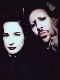 Marilyn Manson & Dita being photographed together again melts my heart. <3