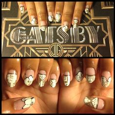 gatsby glam!! great gatsby nail art by mei kawajiri. #manisbymei