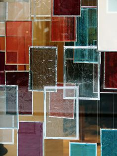 colored glass. I'm thinking a wall display?