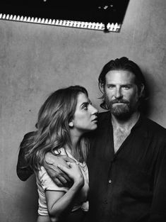 """textpictures: """"""""Lady Gaga & Bradley Cooper by Peter Lindbergh for 'A Star Is Born'. Peter Lindbergh, The Best Films, Curly Hair Men, A Star Is Born, Popular Haircuts, Film Serie, Look At You, Actors & Actresses, Hollywood Actresses"""