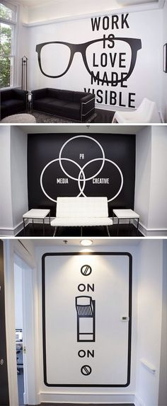 10 creative office space design ideas that put your interior design in the shade - Page 5 of 5 - THE Creative Office Space, Office Space Design, Cool Office, Office Interior Design, Office Interiors, Office Designs, Office Spaces, Small Office, Creative Wall Decor