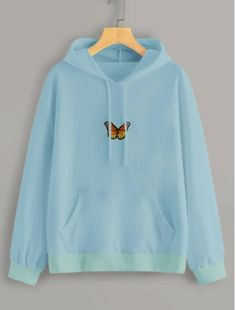 To find out about the Butterfly Embroidered Kangaroo Pocket Hoodie at SHEIN, part of our latest Sweatshirts ready to shop online today! Hoodies, Sweatshirts, Sweater Hoodie, Kangaroo, Retro Vintage, Vintage Fashion, Graphic Sweatshirt, Butterfly, Pocket