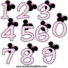 Números decorativos Minnie Rosa