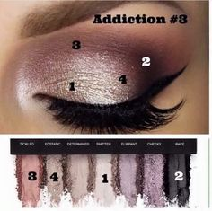 Mood stuck addiction palette Younique eyeshadows make up purples and silvers pretty eye shadow colours Eye Makeup, Makeup Tips, Makeup Ideas, Witch Makeup, Sleek Makeup, Scary Makeup, Simple Makeup, Makeup Trends, Makeup Brushes