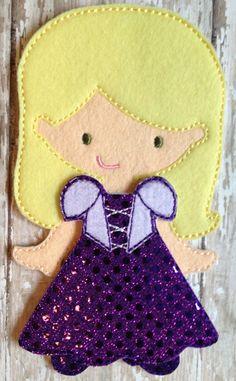 Princess Dress Felt UnPaper doll and dress by NettiesNeedlesToo, $12.00