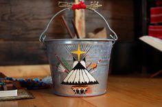 Peyote bucket Teepee 1