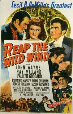 1942 Reap The Wild Wind : John Wayne, Ray Milland & Paulette Goddard