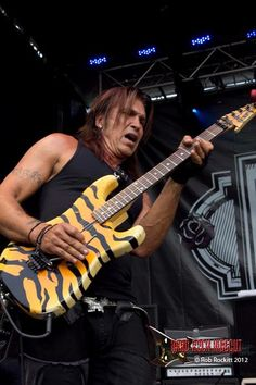 George Lynch!! with a gorgeouus signature ESP Bengal Tiger guitar