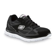 505213b16cab Skechers Womens Shoes Running flex unexpected black white laces size 7.5 NEW