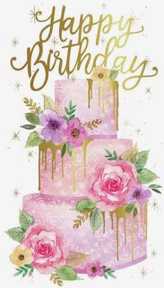 Happy Birthday Greetings Friends, Happy Birthday Art, Birthday Wishes Cake, Happy Birthday Wallpaper, Birthday Wishes And Images, Birthday Blessings, Happy Birthday Pictures, Happy Birthday Messages, Birthday Quotes