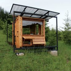 Compact cabin with secret hidy holes