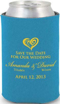 Totally Wedding Koozies - save the date wedding design. If you want the best officiant for your Outer Banks, NC, ceremony, contact Rev. Barbara Mulford: myobxofficiant.com/