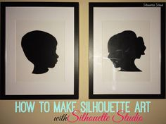 DIY Silhouette Art with Vinyl and Cardstock (No Tricky Photography or Editing…