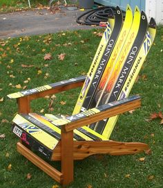 DIY ::: Adirondack Ski Chair