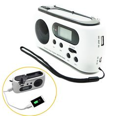 Mini Portable Radio Dynamo Solar Powered AM/FM Digital Radio With 3 LED Flashlight Emergency Phone Charger for iPhone Samsung