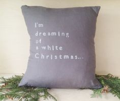 BRIKA.com | White Christmas Pillow (More Colors)