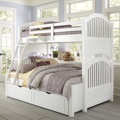 Lake House Adrian Twin over Full Bunk Bed - Kids Trundle Beds at Hayneedle